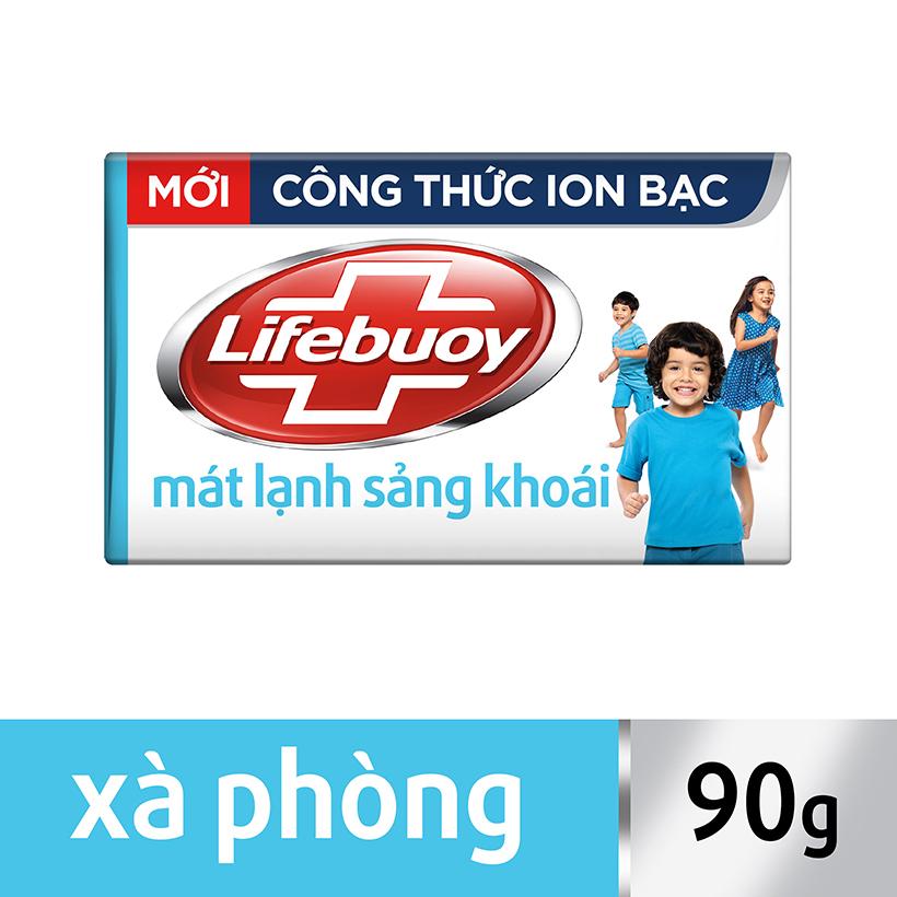 Xà bông Lifebuoy mát lạnh sảng khoái hộp 90g