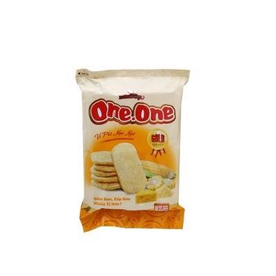 Bánh gạo One One Gold vị phô mai - Thùng 20 gói x 118g