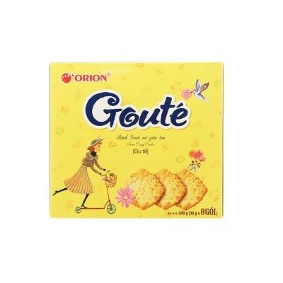 Bánh Goute mè - Thùng 8 hộp x 8 gói (288g) SKU HN-BK0009