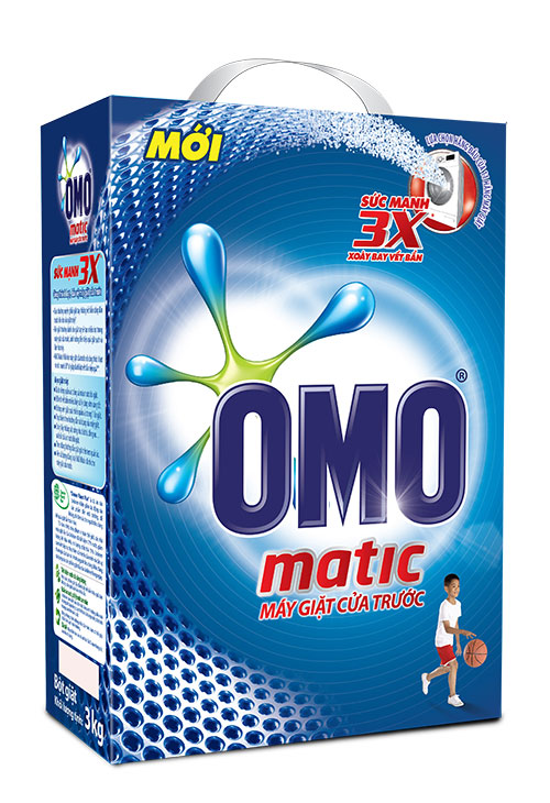 Bột Giặt Omo Matic Cửa Trước 3kg/H