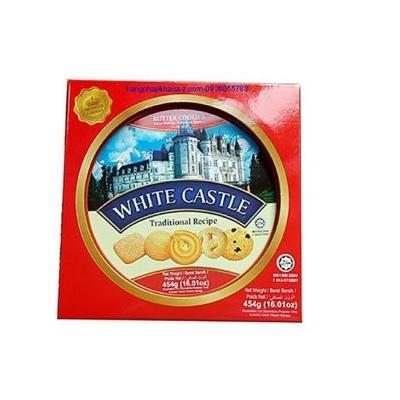 Bánh quy bơ White Castle màu đỏ - Hộp thiếc tròn 454gr