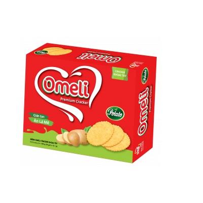 Bánh Omeli Cracker khoai tây - Hộp giấy 400g