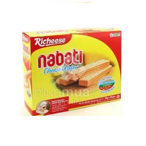 Bánh Kem Xốp Nabati Wafer Krim Keju 20x10g