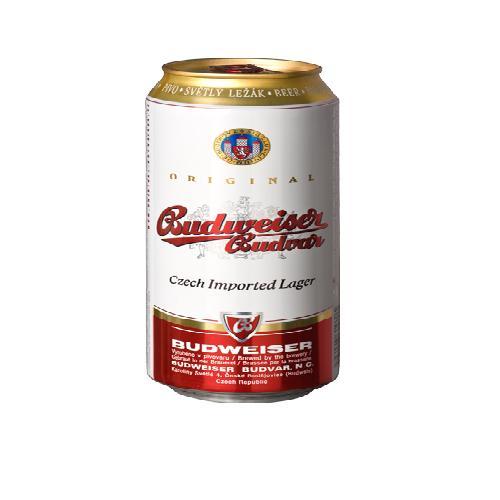 Bia Lon Budweiser Budvar 330ml (24 Lon/Thùng)