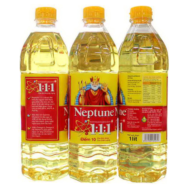Dầu ăn Neptune 1:1:1 1 lít