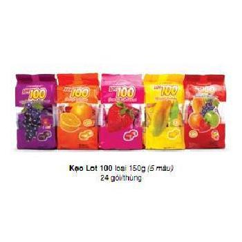 Kẹo Gôm Lot 100 Các Vị 150g