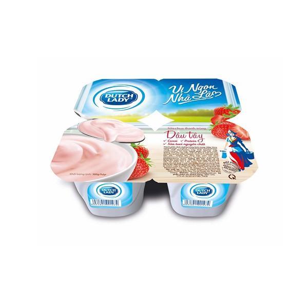 Sữa Chua Cô Gái Hà Lan Dâu Tây