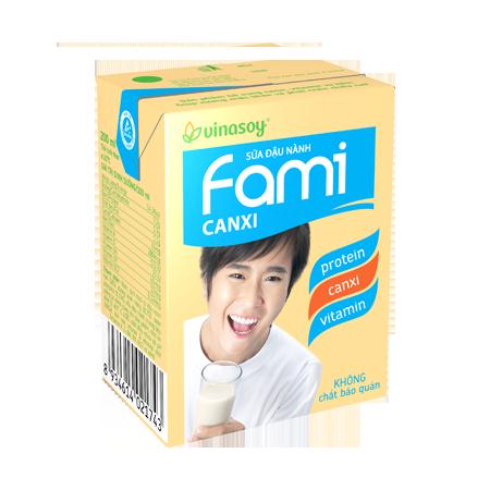 Sữa Đậu Nành Fami Canxi Hộp 200ml