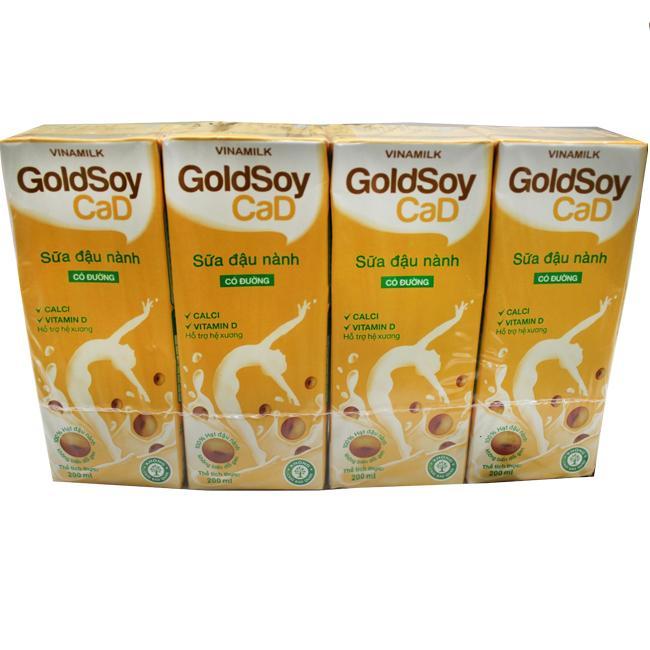 Sữa Đậu Nành Goldsoy Có Đường 200ml
