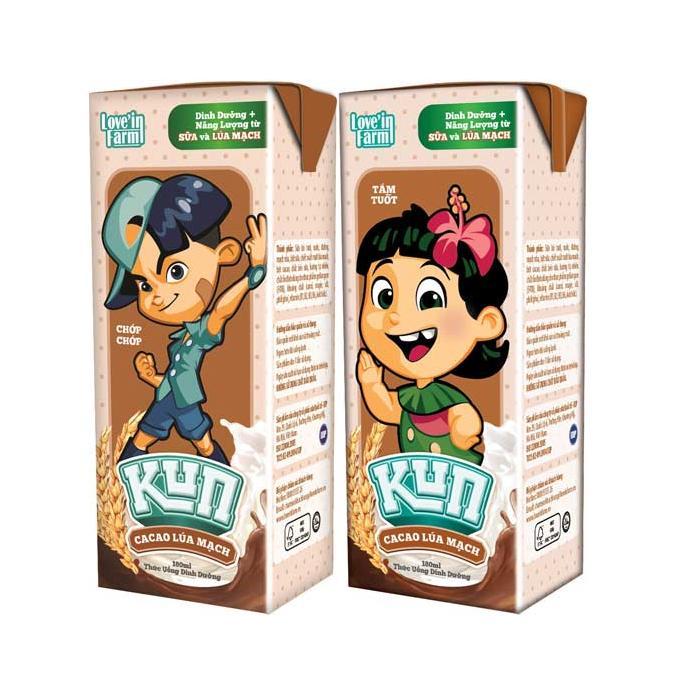 Sữa Kun Ca Cao Lúa Mạch 180ml