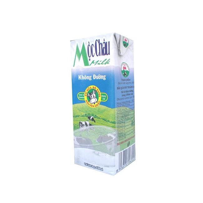 Sữa Tươi Tiệt Trùng Mộc Châu Không Đường 180ml