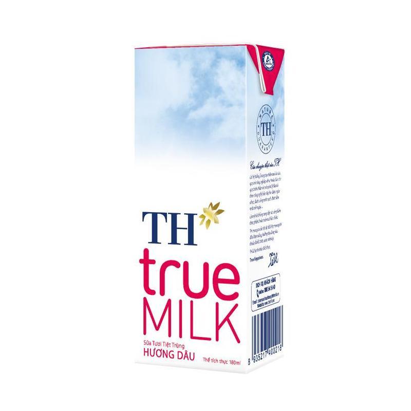 Sữa Tươi Tiệt Trùng True Milk H.Dâu 180ml