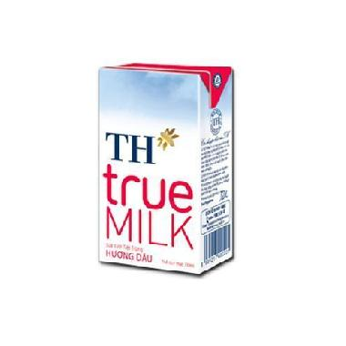 Sữa Tươi Tiệt Trùng True Milk H.Dâu 110ml