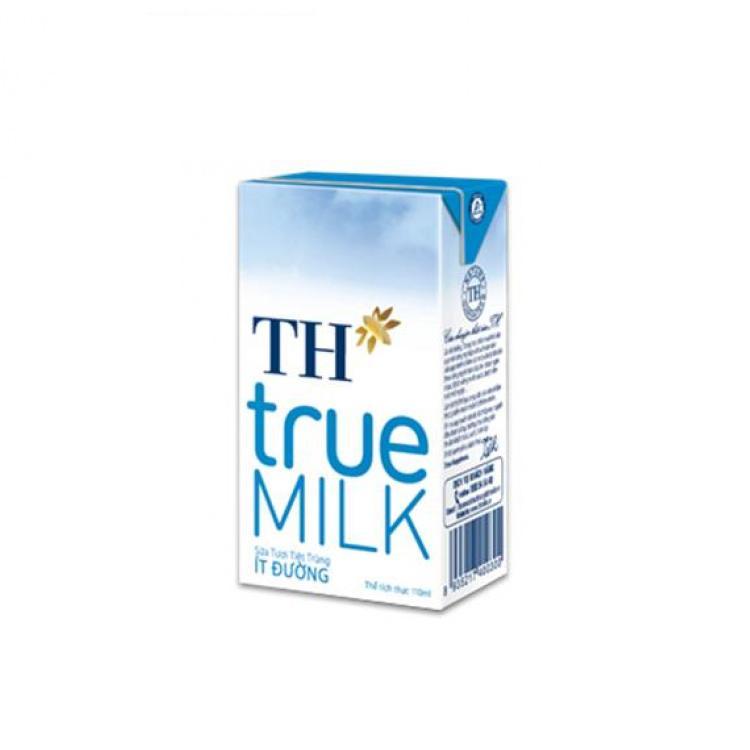 Sữa Tươi Tiệt Trùng True Milk Ít Đường 110ml