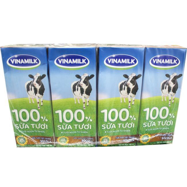 Sữa Tươi Tiệt Trùng Vinamilk Đàn Bò Socola 180ml