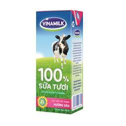 Sữa Tươi Tiệt Trùng Vinamilk Dâu 180ml