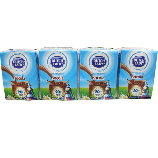 Sữa Tiệt Trùng Cô Gái Hà Lan Socola 110ml