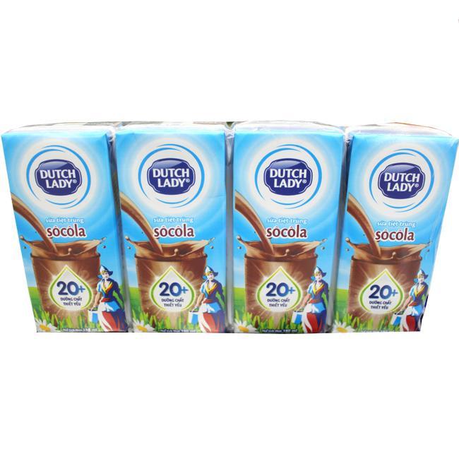 Sữa Tiệt Trùng Cô Gái Hà Lan Socola 180ml